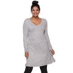 Juniors' Plus Size SO® Long Sleeve Swing Dress