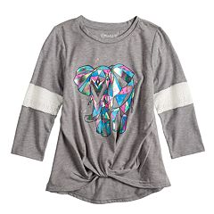 Girls 7-16 Mudd® Crochet Knot Front Graphic Tee