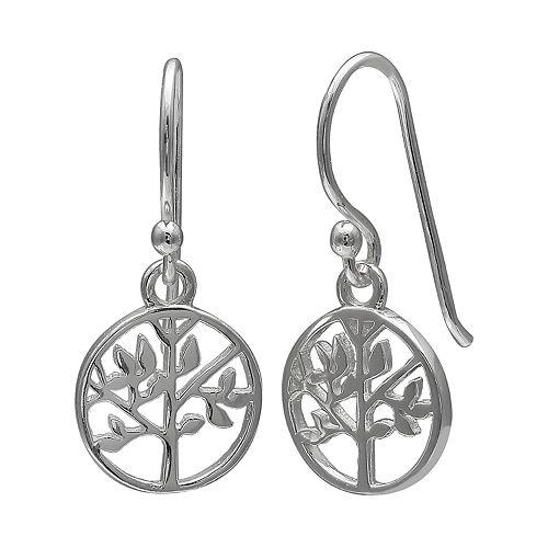 fd2983fc9 Primrose Sterling Silver Family Tree Drop Earrings