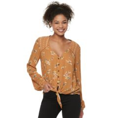 Womens Yellow Shirts Blouses Tops Clothing Kohl S