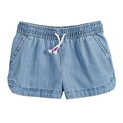 Toddler Girl Jumping Beans® Chambray Dolphin-Hem Shorts
