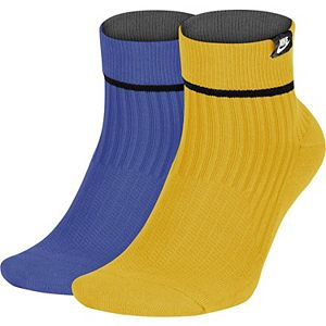 Men's Nike 2-pack SNKR Sox Essential Ankle Socks
