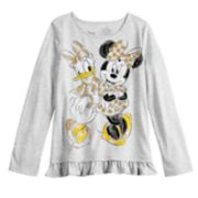 Disney's Minnie Mouse & Daisy Duck Girl 4-12 Glittery Graphic Top by Jumping Beans®
