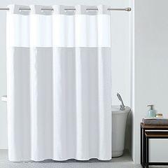 Starlight Basketweave 2-pc. Fabric Shower Curtain & Liner Set