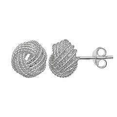 Primrose Sterling Silver Knot Stud Earrings