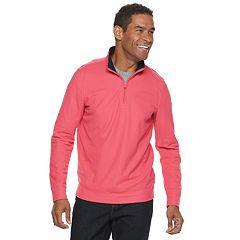 Men's Croft & Barrow® Classic-Fit Pique Performance Quarter-Zip Pullover