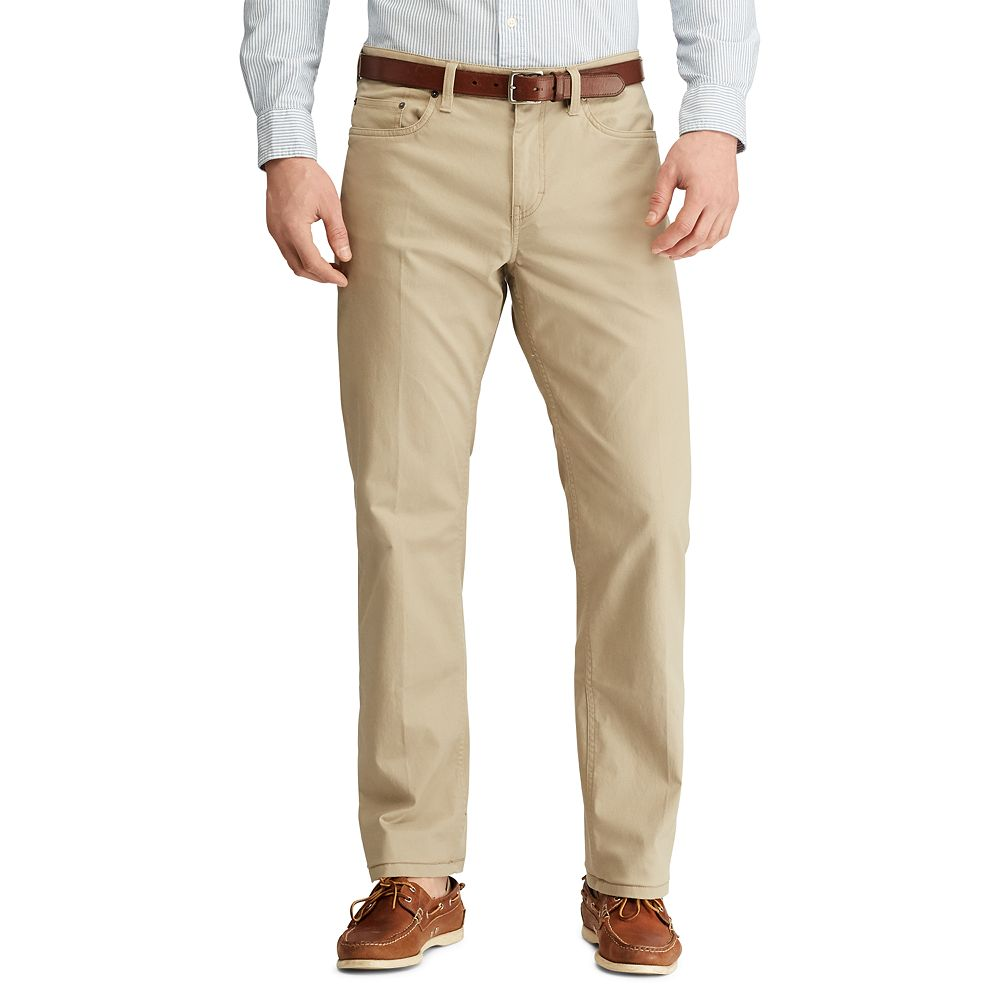 Men's Chaps Classic Fit 5-Pocket Stretch Twill Pants