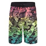 Boys 8-20 Hurley Sticker Graphic Multicolored Board Shorts