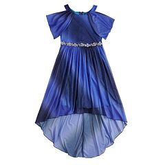 Girls 7-16 My Michelle Glitter Off-the-Shoulder Dress
