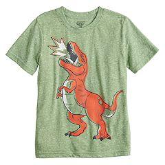 Boys 4-12 Jumping Beans® T-Rex Dinosaur Snow Heather Softest Graphic Tee