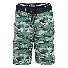 Boys 8-20 Hurley Floral Camo Graphic Print Board Shorts