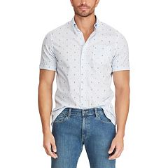 Big & Tall Chaps Classic-Fit Embroidered Button-Down Shirt