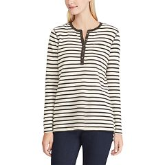 Women's Chaps Striped Henley Top