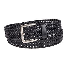 Men's Chaps Leather Braided Belt