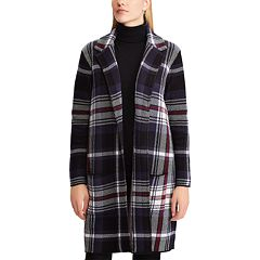 Women's Chaps Plaid Jacquard Sweater Jacket