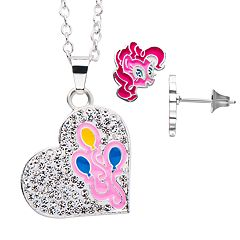 My Little Pony Pinkie Pie Heart Pendant and Stud Earring Set