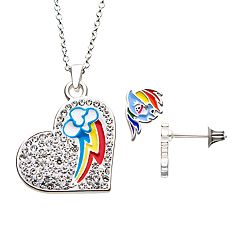 My Little Pony Rainbow Dash Heart Necklace & Earring Set