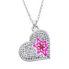 My Little Pony Twilight Sparkle Cubic Zirconia Heart Pendant Necklace