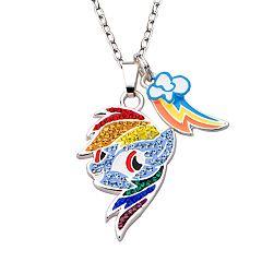 My Little Pony Rainbow Dash Rainbow Charm Pendant Necklace