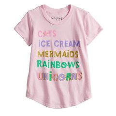 Toddler Girl Jumping Beans® Glittery List Graphic Tee