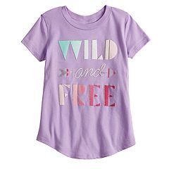 Toddler Girl Jumping Beans® 'Wild and Free' Slubbed Graphic Tee