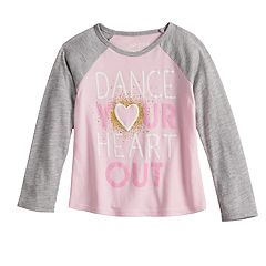 Toddler Girl Jumping Beans® 'Dance Your Heart Out' Glittery Graphic Tee