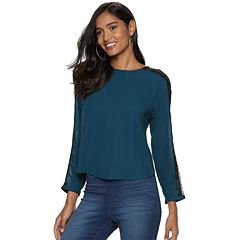 Women's Jennifer Lopez Lace-Trim Dolman Top