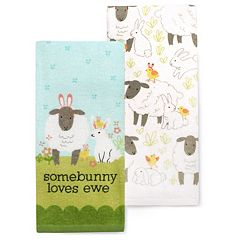 Celebrate Easter Together Easter 'Somebunny' Kitchen Towel 2-pk.