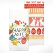 "Celebrate Easter Together ""Happy Easter"" Kitchen Towel 2-pack"