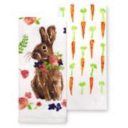 Celebrate Easter Together Easter Bunny Kitchen Towel 2-pk.