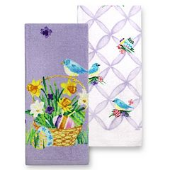Celebrate Easter Together Easter Basket Kitchen Towel 2-pk.