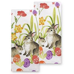 Celebrate Easter Together Easter Bunny Kitchen Towel 2-pk.
