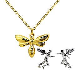Marvel Ant-Man and The Wasp Pendant and Earring Set
