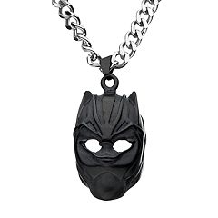 Marvel Stainless Steel Black Panther Mask Pendant Necklace