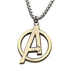 Marvel Avengers Stainless Steel Logo Pendant Necklace