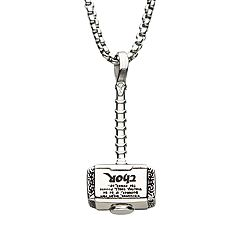 Marvel Thor Stainless Steel Hammer Pendant Necklace