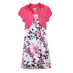 008c8e4c37 Girls 7-16   Plus Size Speechless Tiered Floral Mock-Layer Dress
