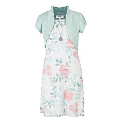 Girls 7-16 & Plus Size Speechless Tiered Floral Mock-Layer Dress