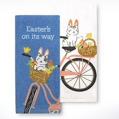 Celebrate Easter Together Easter Cat Kitchen Towel 2-pk.
