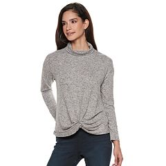 Women's Jennifer Lopez Twist-Front Hem Turtleneck