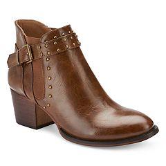 Olivia Miller Palmer Women's Stud Strap Boots