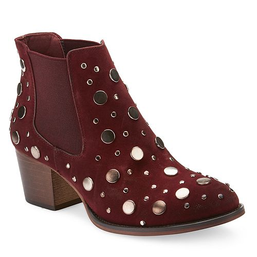 Olivia Miller Ward Women's Burnished Studded Booties