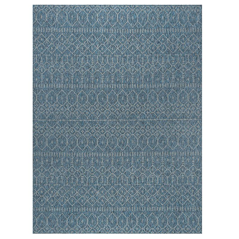 Temple Owls Make a statement with this Elsa rug. Indoor/outdoor use Modern design CONSTRUCTION AND CARE Polypropylene Spot clean Imported Manufacturer\\\'s 1-year limited warranty For warranty information please click here Size: 5Ft Rnd. Color: Blue. Gender: unisex. Age Group: adult.