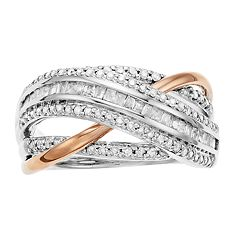 Two-Tone 10k Rose Gold & 10k White Gold 1/2 Carat T.W. Diamond Ring