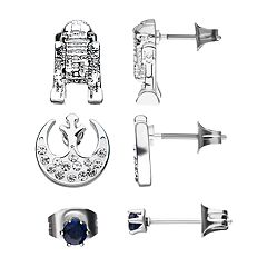 Star Wars R2D2, Rebel Symbol and Stud Earring Set