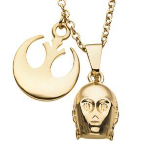 Star Wars C-3PO Rebel Pendant Necklace