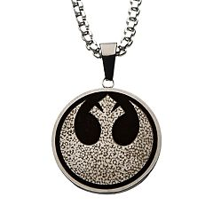 Star Wars Rebel Symbol and Millennium Falcon Pendant