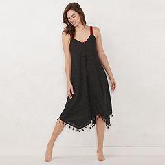 Women's LC Lauren Conrad Printed Handkerchief Hem Dress Cover-Up