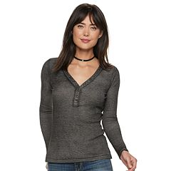 Women's Rock & Republic® Ribbed Henley