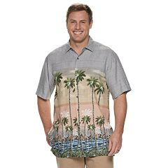 Men's Batik Bay Tropical Flamingo Button-Down Shirt